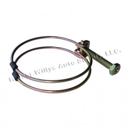 Steel Crossover Tube to Air Horn Seal Clamp Fits 41-53 MB, GPW, CJ-2A, 3A, M38, Truck, Station Wagon with 4-134 L engine