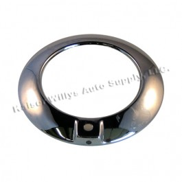 Chrome Parking Light Bezel (one mounting hole style)  Fits  50-51 Truck, Station Wagon, Jeepster