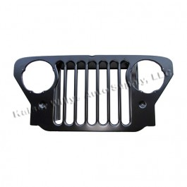 New Steel Radiator Grille  Fits  47-53 CJ-2A, 3A