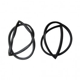 Windshield Glass Rubber Weatherseal (Pair) Fits  48-51 Jeepster