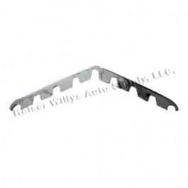 Chrome Horizontal Grille Bar (Center & Lower)  Fits  50-64 Truck, Station Wagon, Jeepster