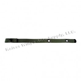 US Made Windshield Hold Down Strap (Olive Drab) Fits: 55-71 CJ-5, M38A1