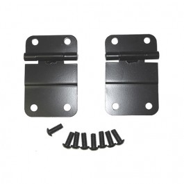 Lower Tailgate Hinges in Black  Fits  76-86 CJ