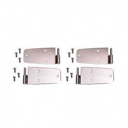 Door Hinge Kit in Stainless, with Full Steel Doors  Fits  76-86 CJ