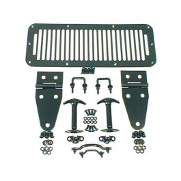 Hood Set in Black  Fits  76-86 CJ