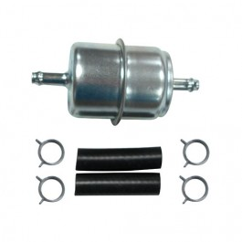 In-Line Fuel Filter Kit with Single Outlet  Fits  76-86 CJ