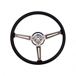 Metal 3-Spoke Design Sport Steering Wheel in Black  Fits  76-86 CJ