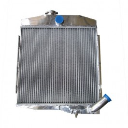 All Aluminum Radiator Assembly - Made in the USA Fits 66-73 CJ-5 with V6-225 (17