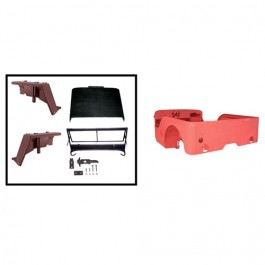 Body Tub Kit (Steel Tub, Fenders, Hood, & Windshield Frame)  Fits  41-45 GPW
