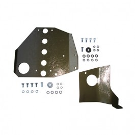 USA Made Transmission Skid Plate Kit (2 piece)  Fits 41-45 MB
