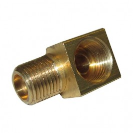 Oil Pressure Hose to Block Fitting (90 degree port) Fits : 41-53 MB, GPW, CJ-2A, 3A