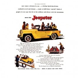 Vintage Willys Ad Yellow Jeepster