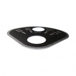 Rotary Lite Switch Instructional Data Plate (Aluminum) Fits  41-45 MB, GPW