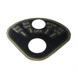 Rotary Light Switch Instructional Data Plate (Brass) Fits  41-45 MB, GPW