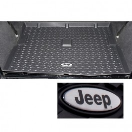 Cargo Liner with Jeep Logo in Black  Fits  76-86 CJ-7,8