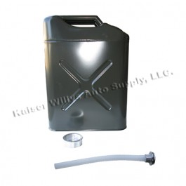 Replacement Jerry Can with 5 gallon capacity in Gloss Green Fits All Jeep Vehicles