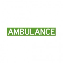 New Ambulance Decal Fits  41-71 Jeep & Willys