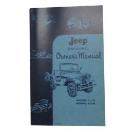 Owners Manual  Fits  55-63 CJ-5