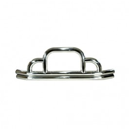 Front Defender Bumper in Stainless  Fits  76-86 CJ