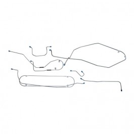 Complete Formed Steel Brake Line Kit Fits  62-63 Station Wagon with 6-230