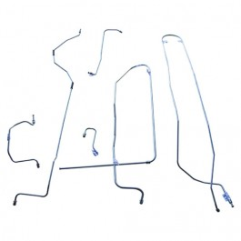 Complete Formed Steel Brake Line Kit (4-134) Fits 50-53 Station Wagon, Sedan Delivery with Dana 44 axle