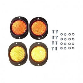 Complete Side Marker Mounting Kit (reflector) Fits  41-71 MB, GPW, CJ-2A, 3A, 3B, 5, M38, M38A1