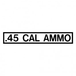 New .45 Cal Ammo Decal Fits  41-71 Jeep & Willys