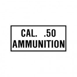 New Cal. 50 Ammunition Decal Fits  41-71 Jeep & Willys