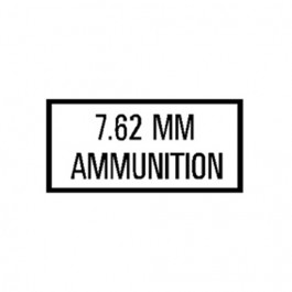 New 7.62 MM Ammunition Decal Fits  41-71 Jeep & Willys