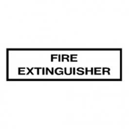New Fire Extinguisher Decal Fits  41-71 Jeep & Willys