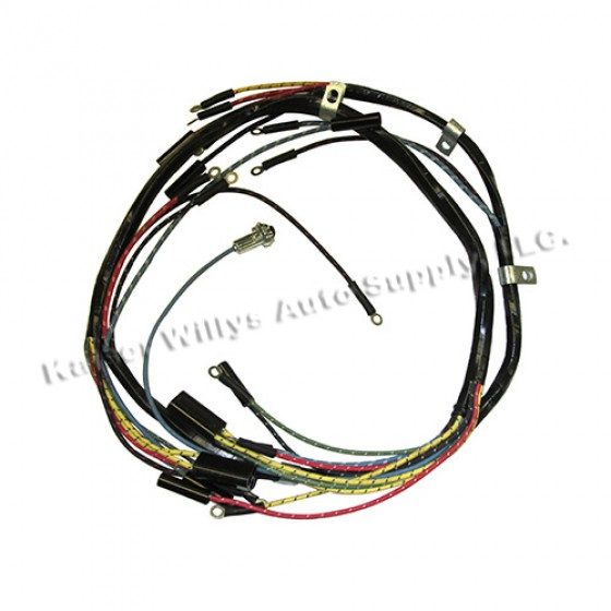 complete wiring harness made in the usa fits 52 66 m38a1 12 volt more views complete wiring harness