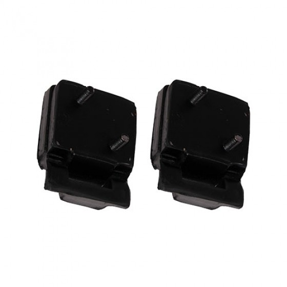 Black Polyurethane Engine Mount, Pair, 76-86 CJ with V8 AMC