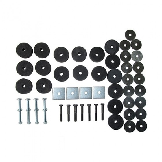 Complete Body Mount Kit with Hardware, 41-71 Kaiser Willys and Jeep