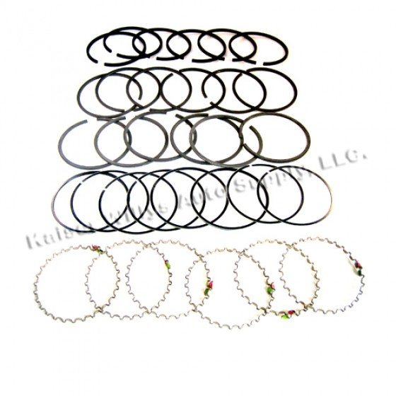 """New Complete Piston Ring Set - .020"""" o.s.  Fits  50-55 Station Wagon, Jeepser with 6-161 engine"""