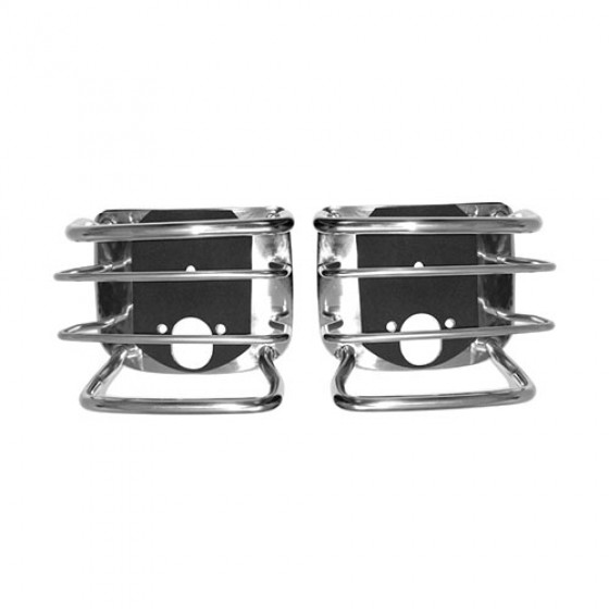 Euro Tail Light Guard in Stainless Steel, 76-86 CJ