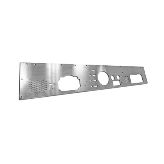 Dash Panel with Pre-Cut Holes, Stainless Steel, 76-86 CJ