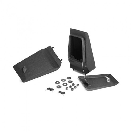 XHD Front Bumper Storage Ends in Textured Black, 76-86 CJ