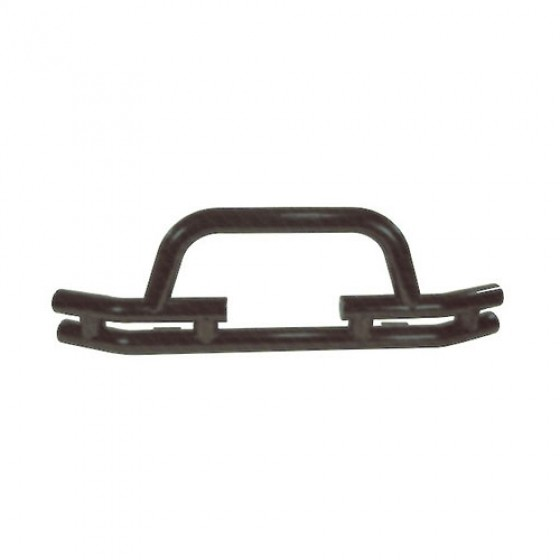 Front Tube Bumper with Winch Cutout in Titanium, 76-86 CJ