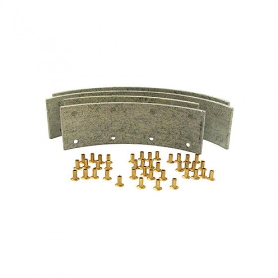 Brake Shoe Lining Set, 41-71 Willys Jeep