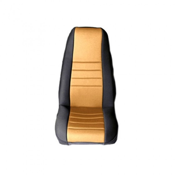 Neoprene Front Seat Covers in Tan, 76-86 CJ