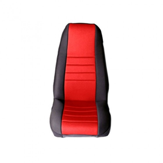 Neoprene Front Seat Covers in Red, 76-86 CJ