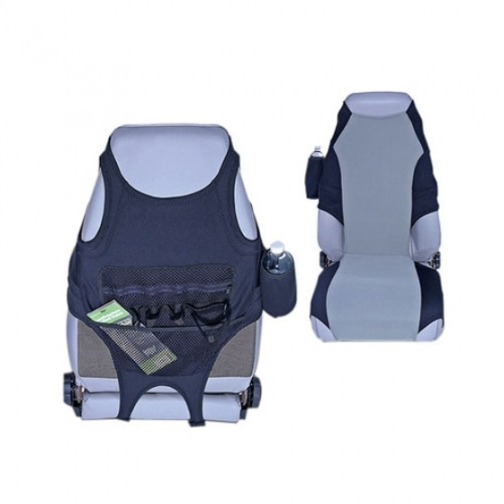 Neoprene Seat Protector in Black/Gray, 76-86 CJ