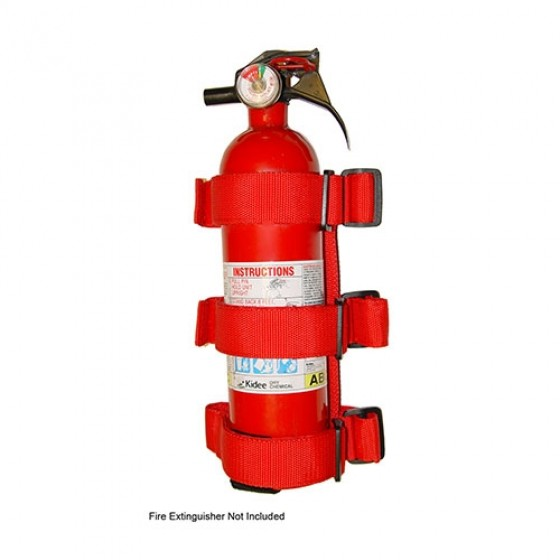 Roll Bar Fire Extinguisher Holder in Red, 76-86 CJ