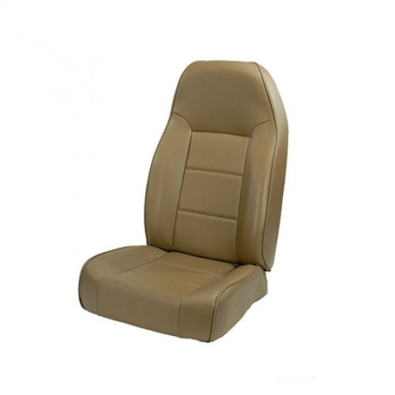 High-Back Front Seat, Non-Recline in Tan,76-86 CJ