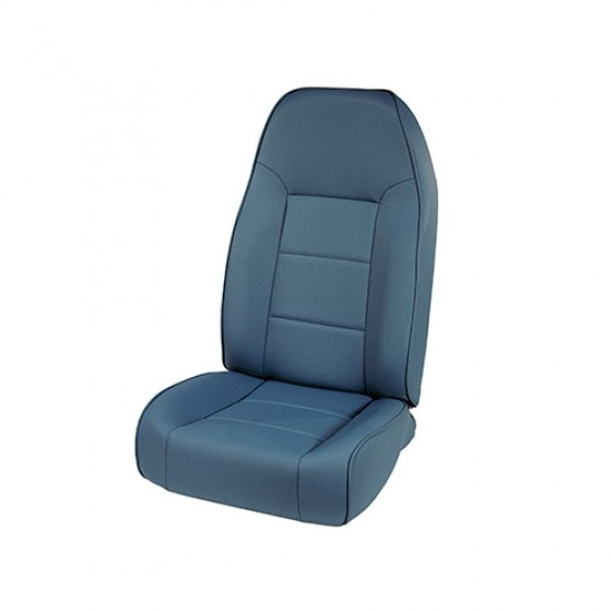 High-Back Front Seat, Non-Recline in Blue, 76-86 CJ