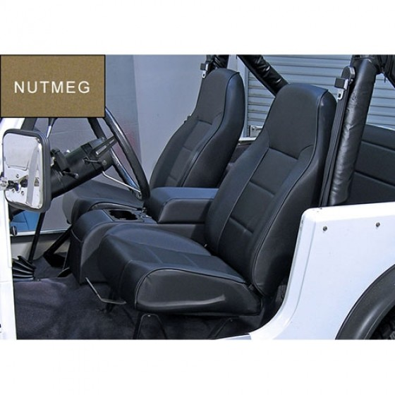 High-Back Front Seat, Non-Recline in Nutmeg, 76-86 CJ