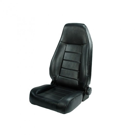 High-Back Front Seat, Reclinable in Black, 76-86 CJ