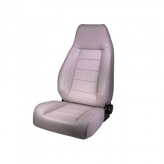 High-Back Front Seat, Reclinable in Gray, 76-86 CJ