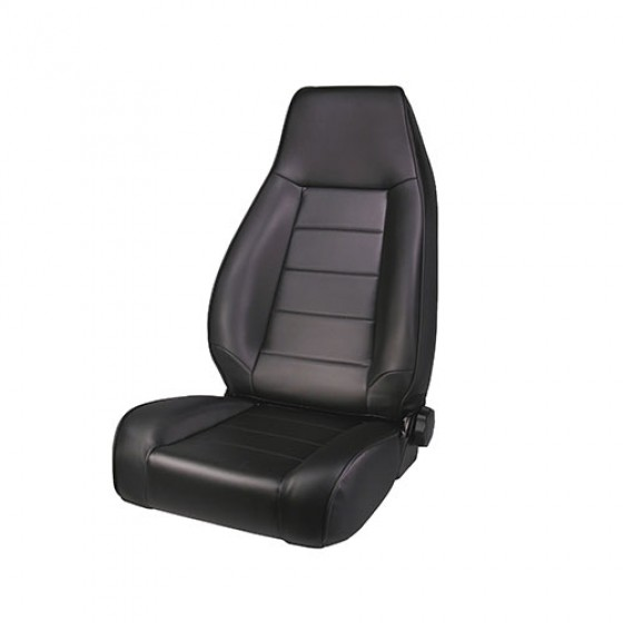 High-Back Front Seat, Reclinable in Black Denim, 76-86 CJ
