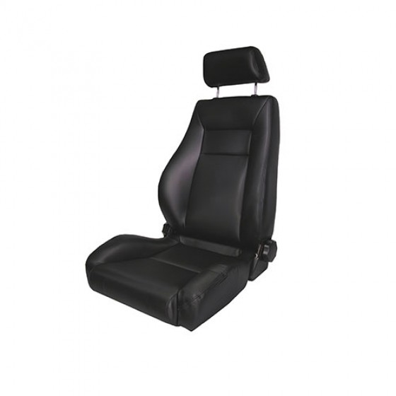 Ultra Front Reclinable Seat in Black Denim, 76-86 CJ